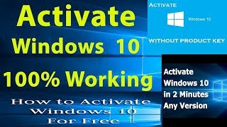 How to activate windows 10 without any key 100 working legally how to activate windows 10 without any key ccuart Choice Image