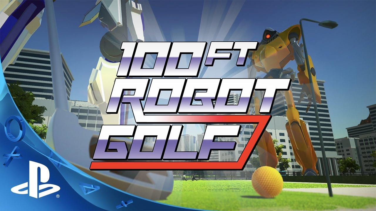 Bem-vindo ao 100ft Robot Golf, Chegando ao PS4 em 2016