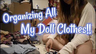 Organizing All My American Girl Doll Clothes!!