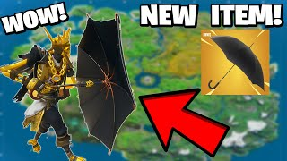 Where to find the new KINGSMAN UMBRELLA in Fortnite? How to use the new Crash Pads item?