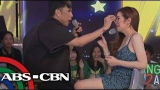 Gandang Gabi Vice: Angeline Quinto breaks into tears on Gandang Gabi Vice.