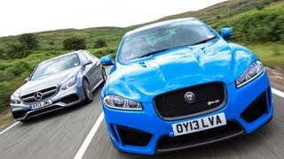 [Autocar] Supersaloon showdown: Jaguar XFR-S vs Mercedes E63 AMG