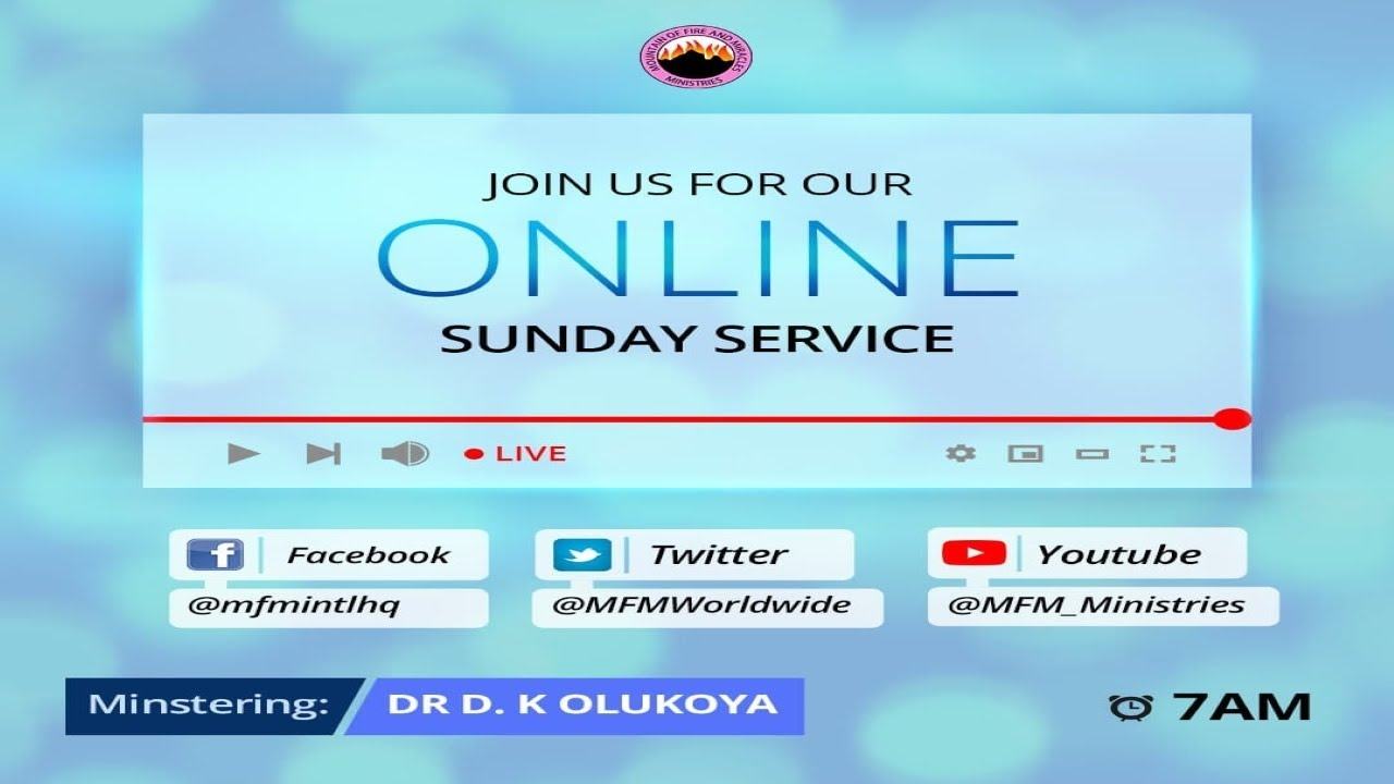 MFM Sunday Live Service 25th April 2021 with Pastor D.K. Olukoya