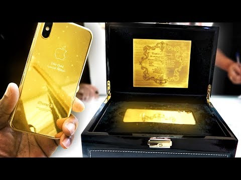 BUYING A 24K GOLD IPHONE X IN DUBAI download YouTube video
