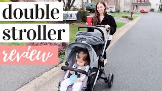 EVENFLO PIVOT XPAND DOUBLE STROLLER DEMO + REVIEW | UPPA BABY VISTA DUPE?