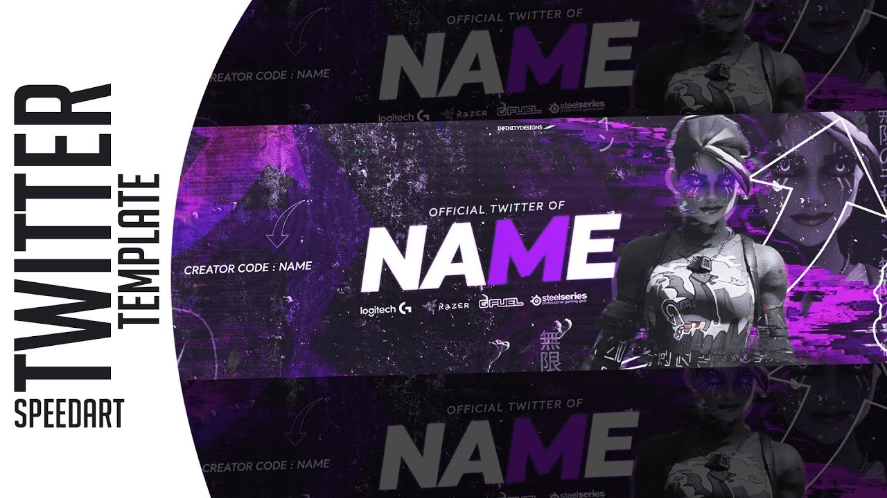 Twitter Header Fortnite Header template