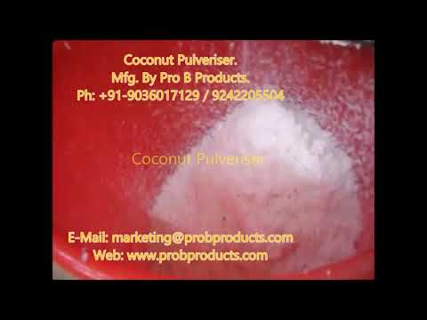 Coconut Pulverizing Machine