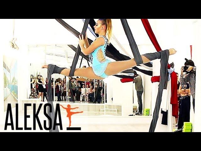 Танец на воздушных полотнах - гимнастика и акробатика. Полина Уварова, ученица Aleksa Studio.