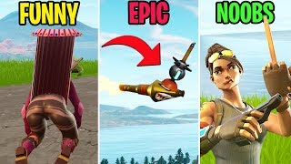 Clinger on a ROCKET! FUNNY vs EPIC vs NOOBS - Fortnite Funny Moments (Battle Royale)