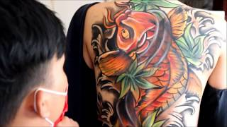 Body Painting Koi Fish Full Back Yakuza