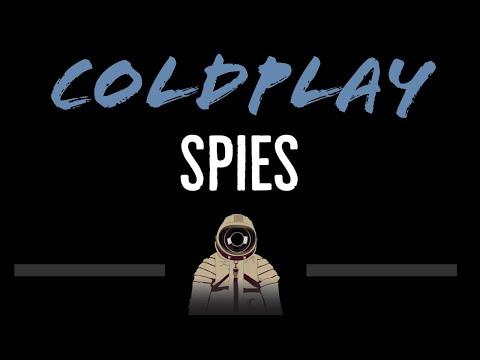 Coldplay • Spies (CC) [Karaoke Instrumental Lyrics]