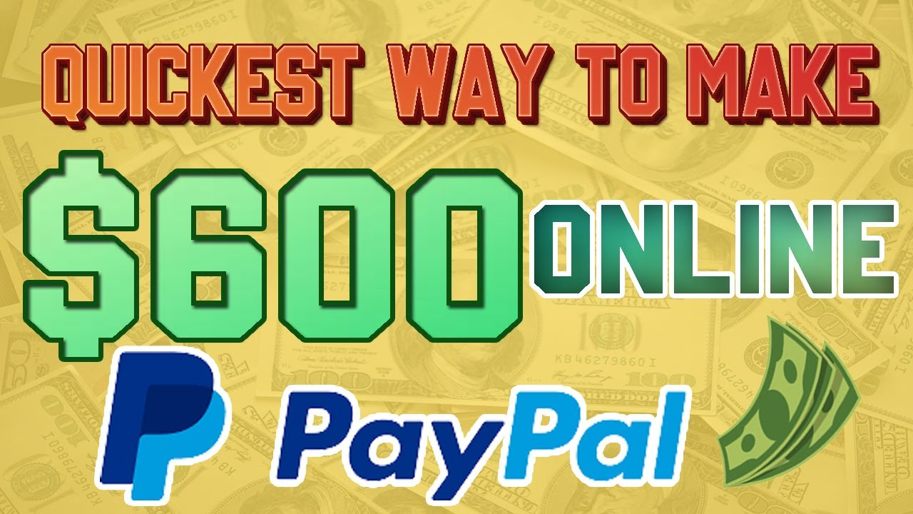 Quickest Way to Make $600 Online With PayPal (Make Money Online 2021) Earn PayPal Money thumbnail