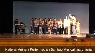National Anthem on Bamboo Instruments