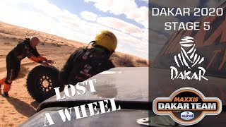 Dakar stage 5 - Lost a wheel and Coronel brothers MacGyvered to the finish