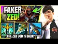 FAKER PICKS HIS ZED AGAIN! - T1 Faker Plays Zed Mid vs Galio! | KR SoloQ Patch 11.4