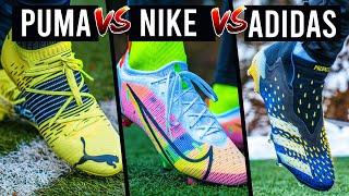 Nike VS Adidas VS Puma - Fußballschuh Battle