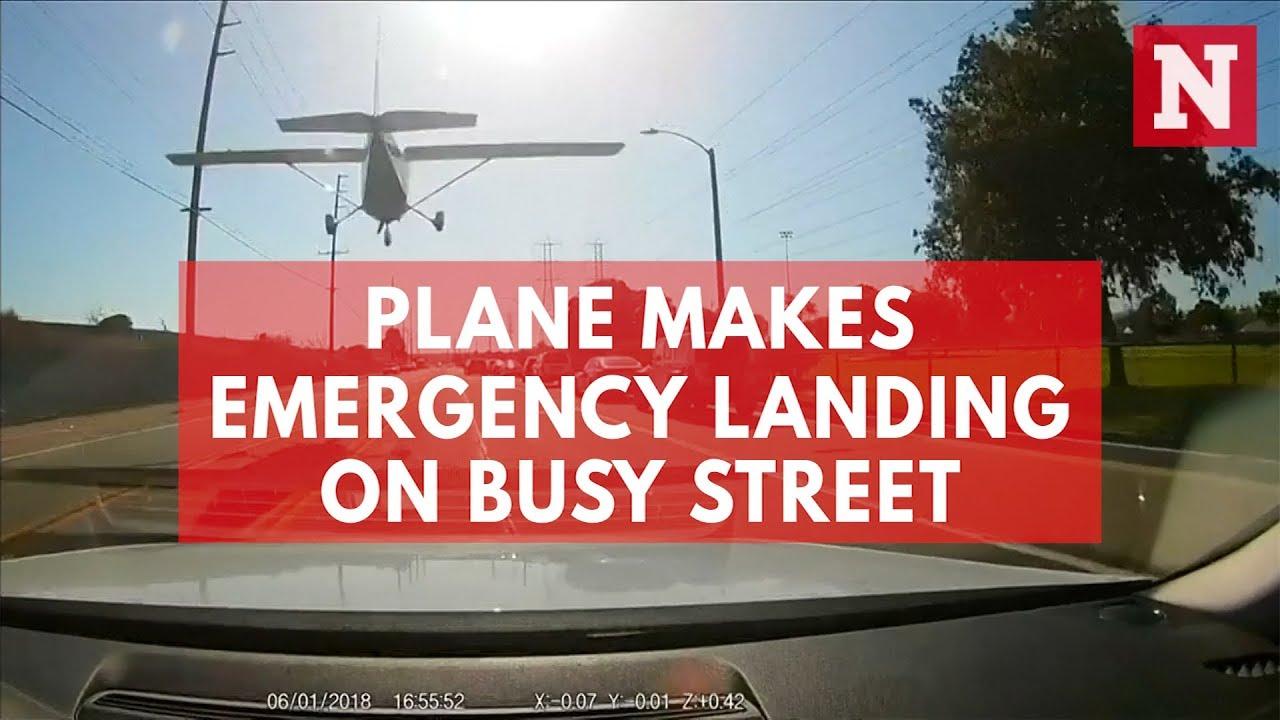 Девушка за рулем Cessna Skyhawk приземлилась на трассу в Лос-Анджелесе