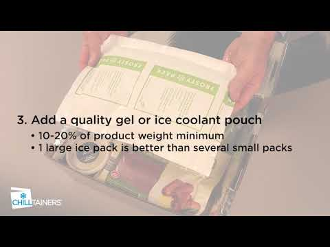 Chilltainers Thermal Packaging – 4 key steps to packing