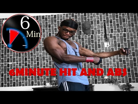6 minute hit and ABS workout-No equipment(Follow along)