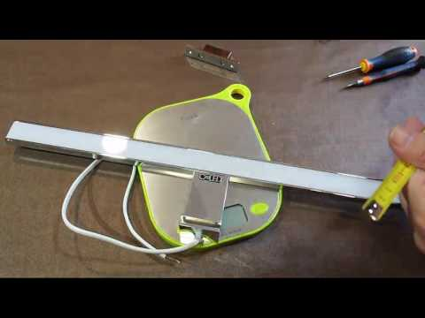 CroLED Lámpara de pared Espejo para Baño Aplique, Muy chulo, ligero y facil de instalar y con un pre