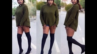 DIY 101: Over The Knee Boots| ConstyJayMuse