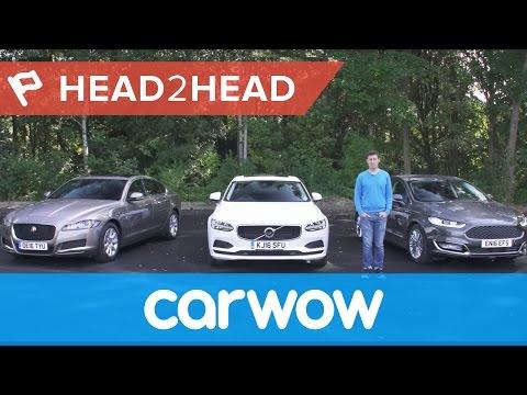 Volvo S90 vs Jaguar XF vs Ford Mondeo Vignale 2017 review   Head2head