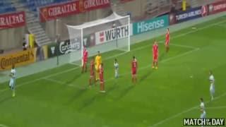Самый быстрый гол в истории ЧМ. Кристиан Бентеке забивает на 7 секунде