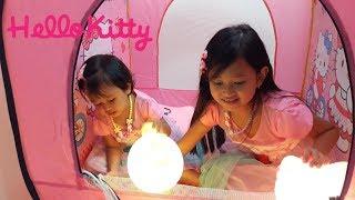 Mainan Tenda Kemah Kemahan dan Lampu Tidur Anak 💖 Hello Kitty Keroppi 💖 Let's Play Jessica Jenica 💖