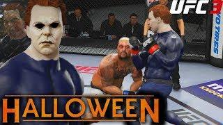 EA UFC 3: Michael Myers Throwing Hands For Halloween! Big Uppercuts! EA Sports UFC 3 Gameplay