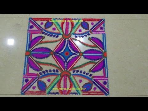 how to create traditional rangoli design by kshama bade