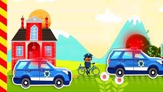 Полицейская машина мультик купер. Машина полиция. Машинки с мигалками. Машины для детей Смотреть