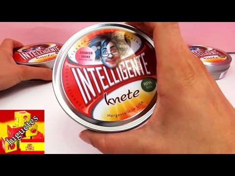 Plastilina inteligente que cambia de color – demo con cuatro colores
