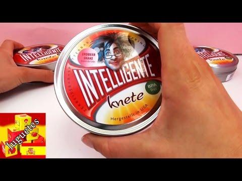 Plastilina inteligente que cambia de color – demo con cuatro colores
