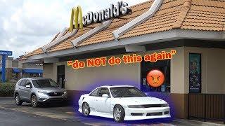 McDonald's Drive Thru In My RACECAR
