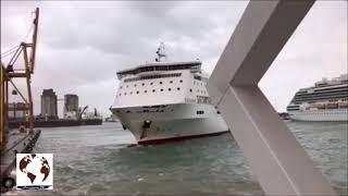 Passenger ferry crashes into Barcelona port