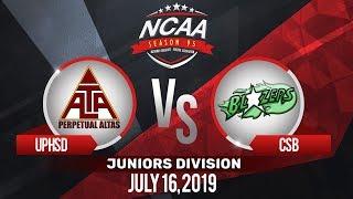 UPHSD Vs. CSB | NCAA 95 Jrs Basketball | July 16, 2019