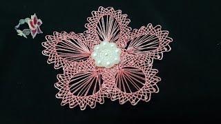Yapımı Farklı Iğne Oyası   Interesting Technique  embroidery Thread