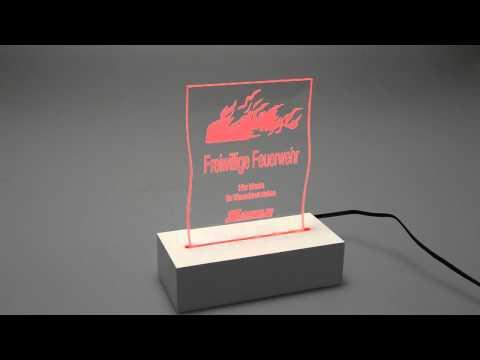 LED Schild Freiwilige Feuerwehr Pokal/Aufsteller Werbetechnik SW-Schilder.de