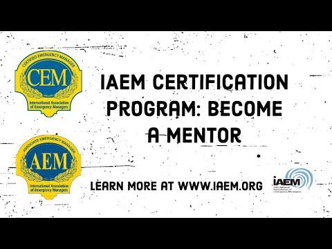 IAEM Certification Program: Become A Mentor - YouTube