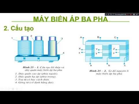 Bài 25: Máy điện xoay chiều ba pha- Máy biến áp ba pha