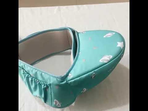 Хипсит / переноска для ребенка от 3 до 36 месяцев до 20 кг набедренная Aierbao зеленая (АО-20806) Video #1