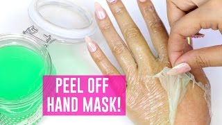 PEEL OFF MASK FOR YOUR HANDS!! - TINA TRIES IT