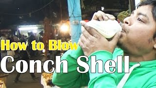 This Guy Shows how to Blow Conch Shell | Amazing Skills | Near Ganga Ghat