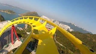 Hair Raiser Roller Coaster POV Ocean Park Hong Kong B&M Floorless On-Ride