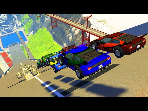 Epic High Speed Jumps #61 – BeamNG Drive   CrashTherapy