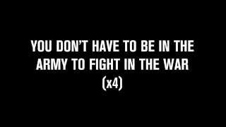 George Ezra - You Don't Have To Be In The Army To Fight In The War (lyrics)