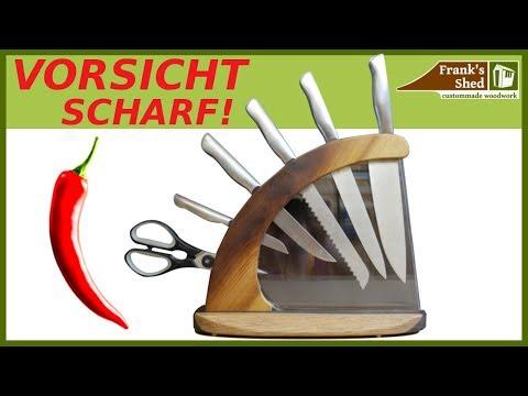 DIY Messerblock aus Holz | Messerhalter selber bauen | Franks Shed