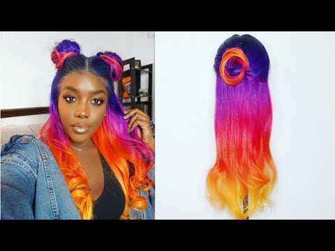 Sunset Inspired Hair Color| ft. Evaswigs