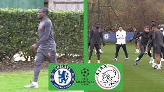N'Golo Kante All Smiles as Frank Lampard Leads Chelsea Training | Champions League Ajax Preview