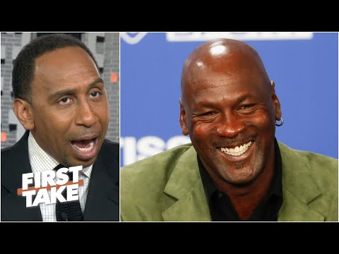 Stephen A. reacts to Michael Jordan starting a NASCAR team with Bubba Wallace driving | First Take